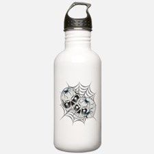 Spider Web Skulls Water Bottle