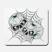 Spider Web Skulls Mousepad