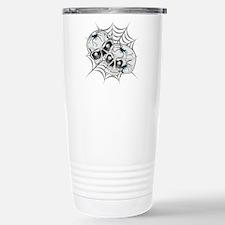 Spider Web Skulls Travel Mug