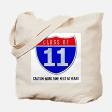 Class of 11 Road Sign Tote Bag