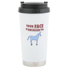 Your Face Stainless Steel Travel Mug