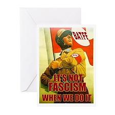 Not Fascism Greeting Cards (Pk of 10)