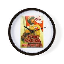 Not Fascism Wall Clock