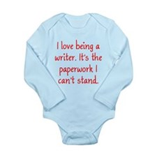 Being a Writer Long Sleeve Infant Bodysuit