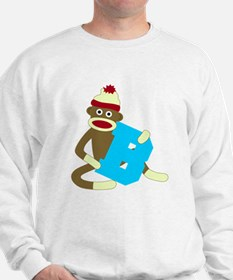 Sock Monkey Monogram Boy B Sweatshirt