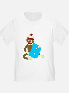 Sock Monkey Monogram Boy B T