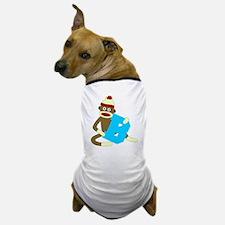 Sock Monkey Monogram Boy B Dog T-Shirt