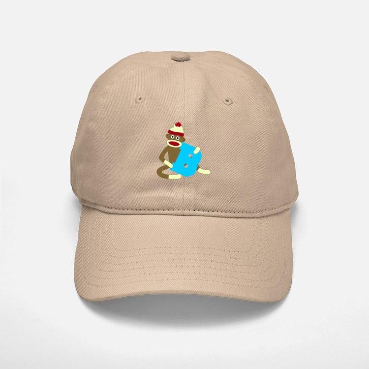 Sock Monkey Monogram Boy B Baseball Baseball Cap