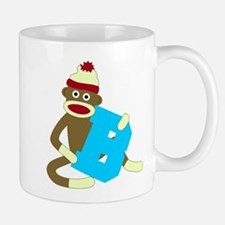 Sock Monkey Monogram Boy B Coffee Mug