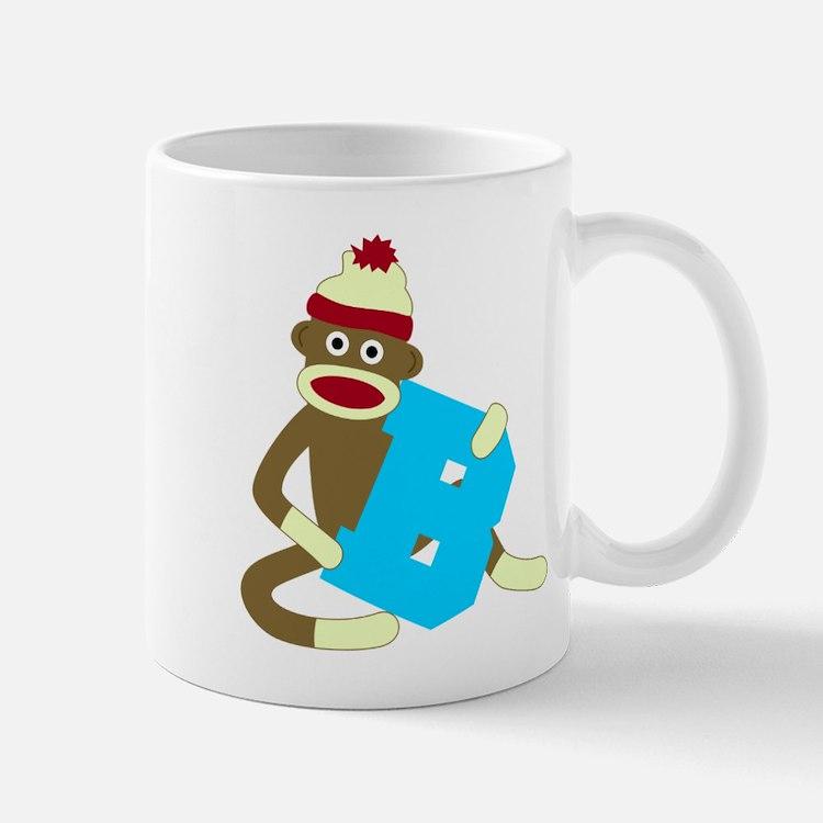 Sock Monkey Monogram Boy B Coffee Mug