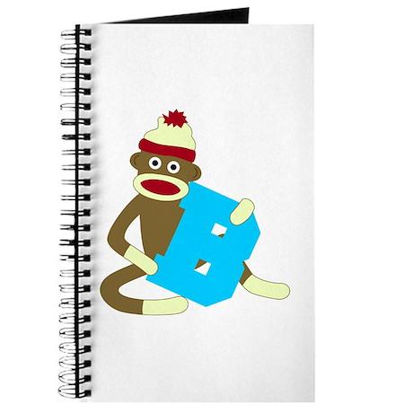 Sock Monkey Monogram Boy B Journal
