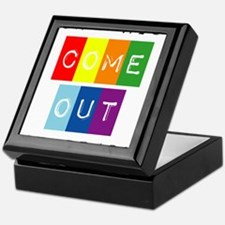 Don't Hide Come Out For Pride Keepsake Box