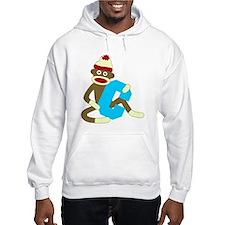 Sock Monkey Monogram Boy C Hoodie