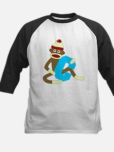 Sock Monkey Monogram Boy C Tee