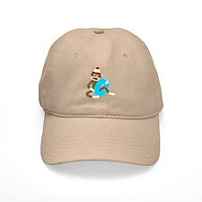 Sock Monkey Monogram Boy C Baseball Cap