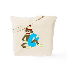 Sock Monkey Monogram Boy C Tote Bag