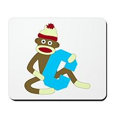 Sock Monkey Monogram Boy C Mousepad