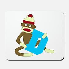 Sock Monkey Monogram Boy D Mousepad