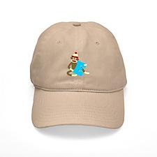 Sock Monkey Monogram Boy E Baseball Cap