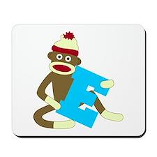 Sock Monkey Monogram Boy E Mousepad