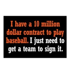 Baseball Contract Postcards (Package of 8)