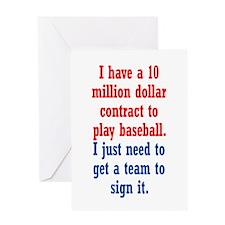 Baseball Contract Greeting Card
