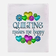 Quilting Happiness Throw Blanket
