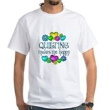 Quilting Mens White T-shirts
