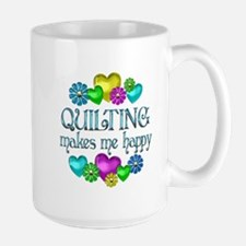 Quilting Happiness Large Mug