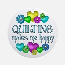 Quilting Happiness Ornament (Round)
