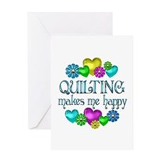 Quilting Happiness Greeting Card