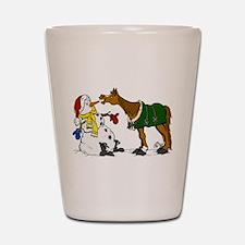 Horse & Snowman Shot Glass