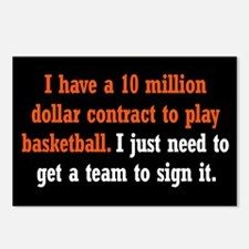 Basketball Contract Postcards (Package of 8)