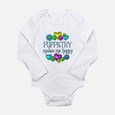 Puppetry Happiness Long Sleeve Infant Bodysuit