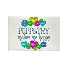 Puppetry Happiness Rectangle Magnet