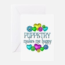 Puppetry Happiness Greeting Card