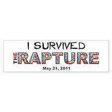 """I Survived The Rapture"" Bumper Bumper Sticker"