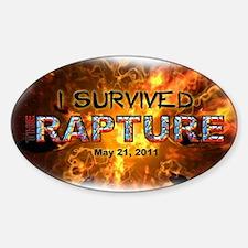 """I Survived The Rapture"" Sticker (Oval)"