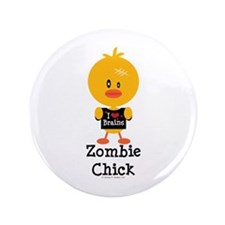 "Zombie Chick 3.5"" Button"