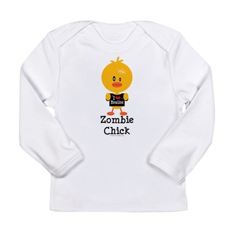 Zombie Chick Long Sleeve Infant T-Shirt