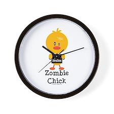 Zombie Chick Wall Clock