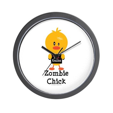 Zombie Chick Wall Clock