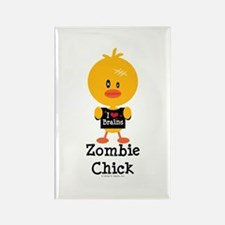 Zombie Chick Rectangle Magnet