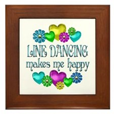 Line Dancing Framed Tile