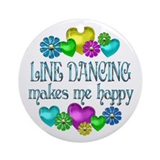 Line Dancing Ornament (Round)