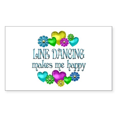 Line Dancing Sticker (Rectangle)