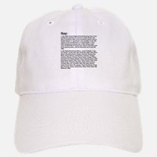 Gay Definition Baseball Baseball Cap