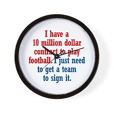 Football Contract Wall Clock