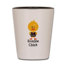 Zombie Chick Shot Glass