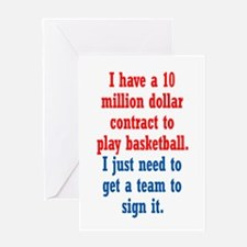 Basketball Contract Greeting Card